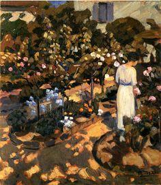 Mario Tozzi (1895-1979) - Il Giardino di Lignorelles (Nel Giardino Fiorito), 1920