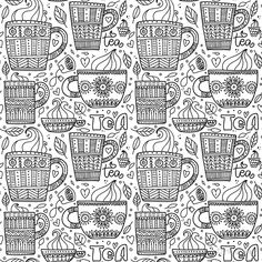 'beautiful doodle cups' by Chris olivier Dresses With Leggings, Wall Tapestry, Laptop Sleeves, Decorative Throw Pillows, Chiffon Tops, Cups, Doodles, Iphone Cases, Framed Prints