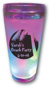 Light Up Cups, Perfect for a Beach Theme Bar & Bat Mitzvah from Cool Party Favors - mazelmoments.com