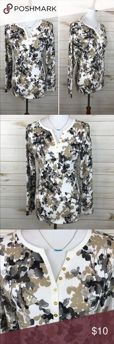 Karen Scott Floral Top NWT - Great Condition - Never Worn - Karen Scott Floral Knit Top - So Adorable! Karen Scott Tops Tees - Long Sleeve