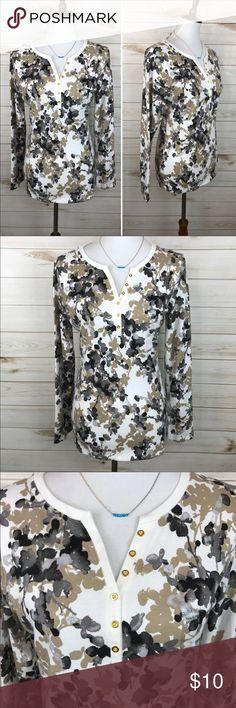Karen Scott Floral Top NWT - Great Condition - Never Worn - Karen Scott Floral Knit Top - So Adorable! Karen Scott Tops Tees - Long Sleeve