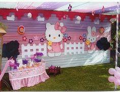 Decoración De Fiestas Infantiles De Hello Kitty | Decoracion Fiestas Infantiles Hello Kitty Theme Party, Hello Kitty Themes, Hello Kitty Cake, Hello Kitty Birthday, Birthday Backdrop, Birthday Bash, Girl Birthday, Balloon Arch, Balloons