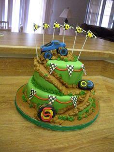 Spiral dirt track cake