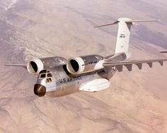 Boeing YC-14, 1976, twin-engine short take-off and landing (STOL) tactical military transport aircraft