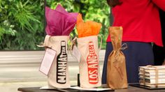 Personalized Wine Paper Bags