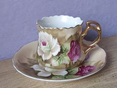 Antique Porcelain tea cup and saucer Lefton china by ShoponSherman
