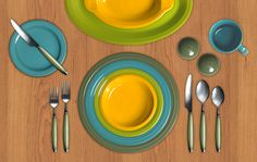 Check out my Colorama by Fiesta®️️ customized table setting, featuring new 2017 color DAFFODIL! Click to create your own.