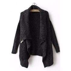 2016 Autumn/Winter Fashion Cool Black Long Sleeve Korean