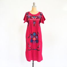 Embroidered Pink Mexican Dress, $70, now featured on Fab.
