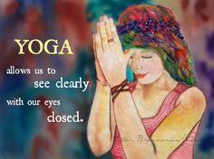 Yoga fine art print by Ellen Brenneman by EllenBrennemanStudio