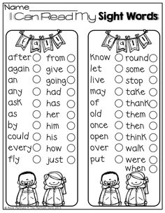 I can read my sight words!  Perfect for keeping track of how many sight words you have learned!