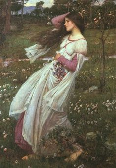 ジョン・ウィリアム・ウォーターハウス 野の花 (アネモネ・ブランダ)