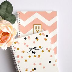 Personalized Notebook Confetti Choose your by LetterLoveDesigns