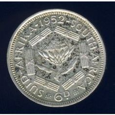 1952 Sixpence coin, South Africa, Silver, George VI, No reserve for Rare Coins Worth Money, Valuable Coins, Union Of South Africa, Coin Worth, Coins For Sale, Tactical Survival, George Vi, Old Coins, Afrikaans