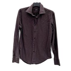 Zara Man Shirt Mens size M Brown Striped Long Sleeve Collared Button down Vgc Zara Man Shirts, Click Photo, Shirt Dress, Blouse, My Ebay, Boy Outfits, Collars, Button, Brown