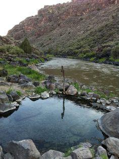 Hot springs along the Rio Grande, near Taos, NM