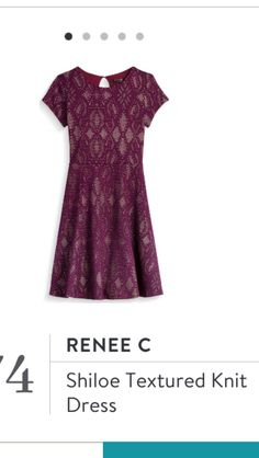 Renee C Shiloe Textured Knit Dress. Stitch Fix fall wedding attire