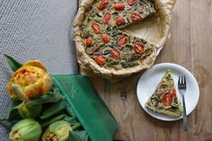 Vegan quiche met asperges en champignons - Lisa goes Vegan