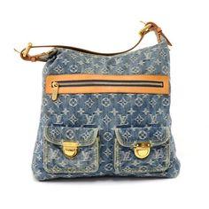 4085765238 Louis Vuitton Baggy Gm Monogram - 2006 Li Blue Denim Shoulder Bag - Tradesy  Denim Shoulder