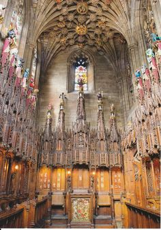 82 The Thistle Chapel at St Giles' in Edinburgh, which was decorated in superlative neo-medieval style by Robert Lorimer.