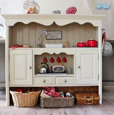 play kitchen out of a hutch..