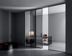Shoin by Lualdi porte. Inspired by the mobile surfaces of the traditional Japanese house.