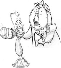 Lumiere and Clogsworth by IllinoisWeasel