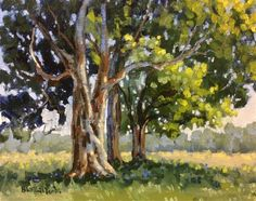 """Daily Paintworks - """"In the Shade"""" - Original Fine Art for Sale - © Linda Blondheim"""