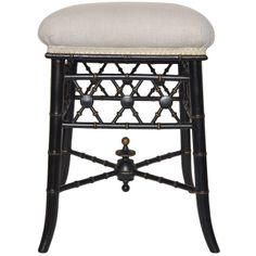 English Upholstered Stool | From a unique collection of antique and modern stools at http://www.1stdibs.com/seating/stools/