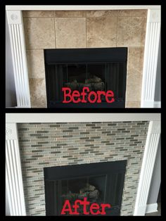 Peel And Stick Backsplash Fireplace Peel N Stick Tiles