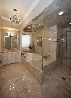 "#barenzbuilders Jaw-dropping ""her"" Master Bath"