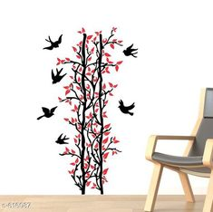 Decorative Stickers Classy PVC Wall Sticker  *Material* PVC  *Size* 70 cm x 117 cm  *Description* It Has 1 Piece Red Leaves Tree & Birds Wall Sticker  *Sizes Available* Free Size *   Catalog Rating: ★3.9 (118)  Catalog Name: Free Gift Decorative PVC Wall Stickers Vol 5 CatalogID_69063 C127-SC1267 Code: 781-616087-