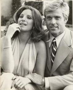 "Barbra Streisand and Robert Redford. ""The Way We Were"" era. Fantastic."