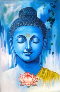 Buddha art painting - 35 Peaceful Gautam Buddha Painting Ideas to Feel Calm – Buddha art painting Budha Painting, Kerala Mural Painting, Ganesha Painting, Indian Art Paintings, Peace Painting, Buddha Images Paintings, Oil Paintings, Rangoli Painting, Acrylic Paintings