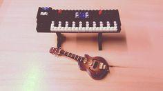 «#nanoblock #music #synthesizer #guitar #miniature #toys #moma #rock»
