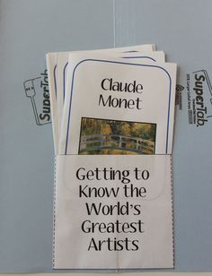 World's Greatest Artists: Monet Labbook Printables