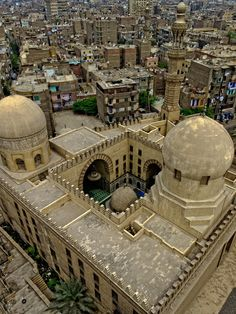 Madrasa of Sarghatmish (1356 AD), Cairo. Seen from the minaret of Ibn Tulun.