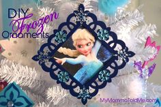 Disney Frozen Christmas Tree Ornament Tutorial--perfect craft to make at a Frozen birthday party!