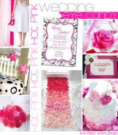 HOT PINK Wedding Inspiration Board  {Eye Candy Event Details}