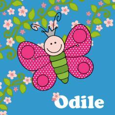 Geboortekaartje dieren vlinder meisje 106 JippieJippie