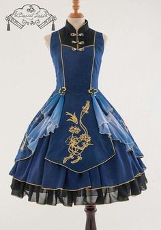 This dress made me think of anime, like toyal school uniform...