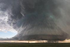 Sister Tornados Under Supercell