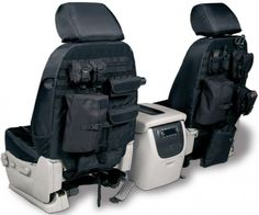 """2003 Toyota Tundra Coverking Tactical Seat Covers - I like the idea of additional storage space in such tight quarters. but I gotta tell you, the idea of a """"tactical"""" seat cover is funny. Tactical Survival, Survival Gear, Tactical Gear, Tactical Truck, Tactical Life, Survival Skills, Jeep Jk, Jeep Wrangler, Tactical Seat Covers"""