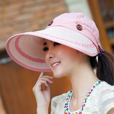 6247d995bad 2016 Wide Brim Anti Sun Hats For Women Motor Caps Panama Fedoras Outdoor  Top Beach Visor Hat Straw Cap Ajustable Bicycle Sunhat