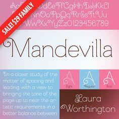 Pretty Fonts: Mandevilla, Barmbrack, Capita, Cultura New, and Azo Sans