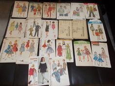 Lot of 20 Vintage Sewing Patterns Children Boys Girls Simplicity McCalls Lot 6