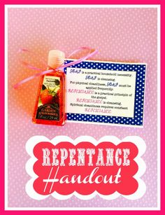 Repentance Handout and Printable. From Marci Coombs' Blog