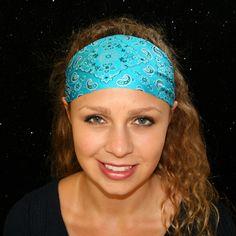 Workout Headband, Yoga Headband, Wide Headband, Running Headbands, Athletic Headbands, Camping Gear, Spandex, Boho, Country