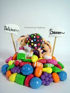Candy Crush Wedding Cake Topper....I would so do this