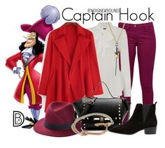 """Captain Hook"" by leslieakay ❤ liked on Polyvore featuring Great Plains, Vince Camuto, MANGO, Noir, MIANSAI, disney, disneybound and disneycharacter"